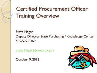 Certified Procurement Officer Training Overview