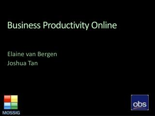 Business Productivity Online
