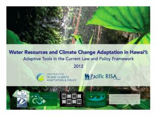 """ Prudent water resource planning should consider the long-term impacts of global climate change and how this could aff"