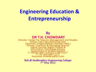 Engineering Education & Entrepreneurship