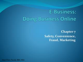 E-Business:  Doing Business Online