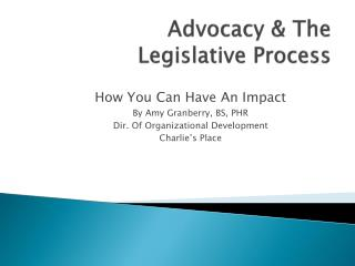 Advocacy & The Legislative Process