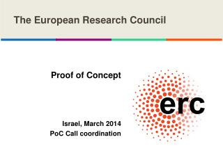 Proof of Concept Israel, March 2014 PoC  Call coordination