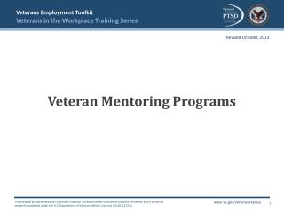 Veteran Mentoring Programs