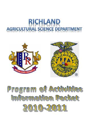 Richland Agricultural  Science Department