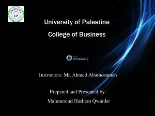 University of Palestine  College of Business
