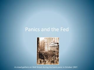 Panics and the Fed