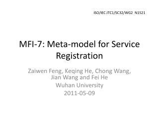 MFI-7: Meta-model for Service Registration