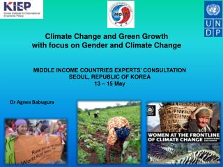 Climate Change and Green Growth with focus on Gender and Climate Change