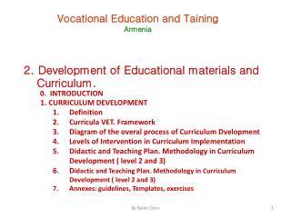 Vocational Education and  Taining Armenia