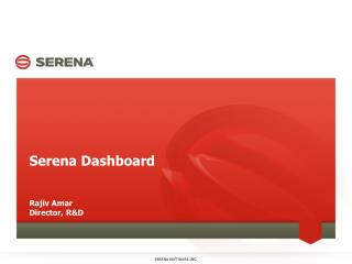 Serena Dashboard