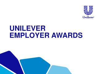 Unilever employer awards
