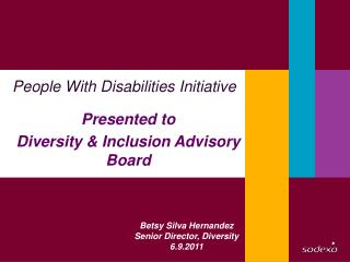 P eople With Disabilities Initiative