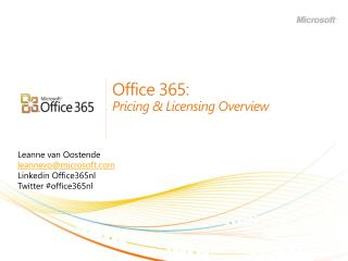Office 365: Pricing & Licensing Overview