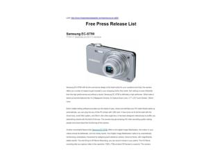 Samsung EC-ST90 (Free Press Release List)