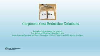 Corporate Cost Reduction Solutions