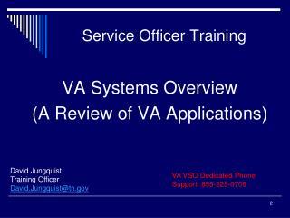 Service Officer Training