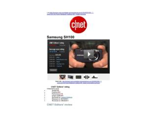 CNET Editors' review: Samsung SH100