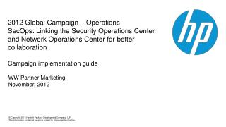 WW  Partner Marketing November, 2012