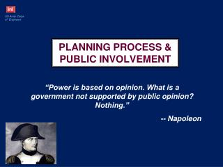 PLANNING PROCESS & PUBLIC INVOLVEMENT