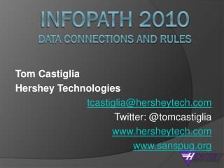Infopath  2010 Data Connections and Rules