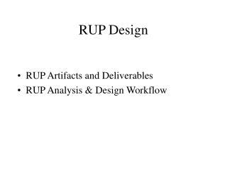 RUP Design