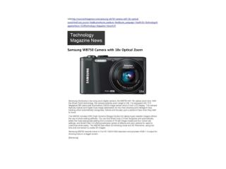 Samsung WB750 Camera with 18x Optical Zoom (Technology Magaz