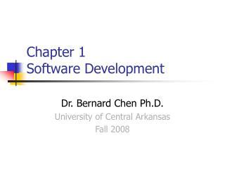 Chapter 1  Software Development