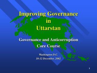 Improving Governance in Uttarstan