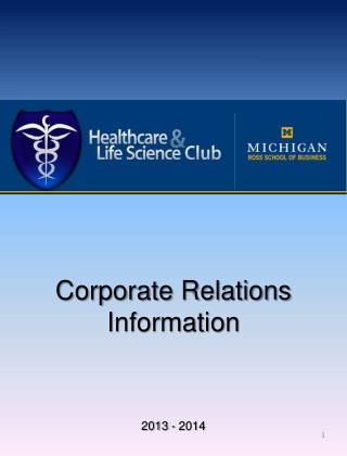 Corporate Relations Information