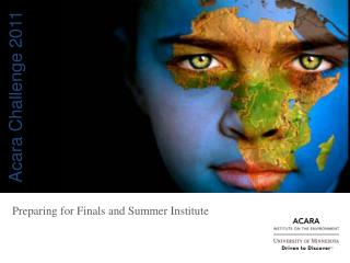 Preparing for Finals and Summer Institute