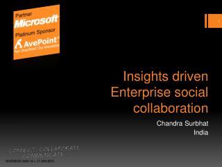 Insights driven Enterprise social collaboration