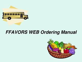 FFAVORS WEB Ordering Manual