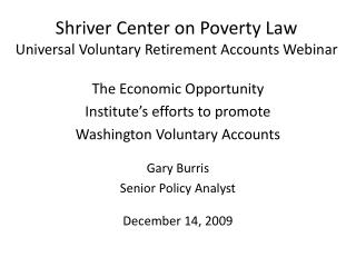 Shriver Center on Poverty Law Universal Voluntary Retirement Accounts Webinar