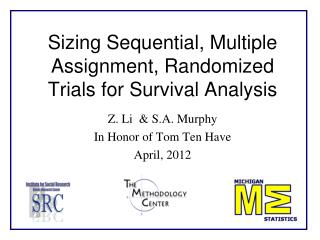 Sizing Sequential, Multiple Assignment, Randomized Trials for Survival Analysis