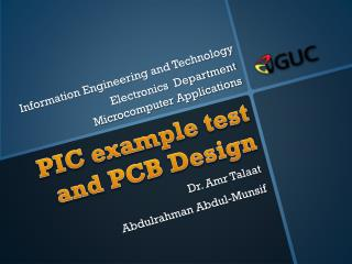 PIC example test  and PCB Design