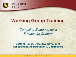 Working Group Training