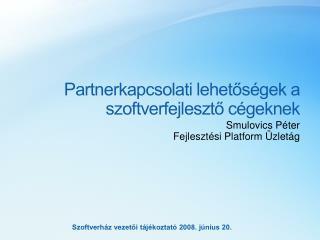 Partnerkapcsolati lehetőségek a szoftverfejlesztő cégeknek