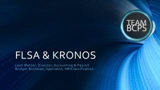FLSA & KRONOS