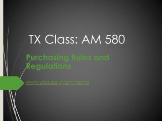 TX Class:  AM 580