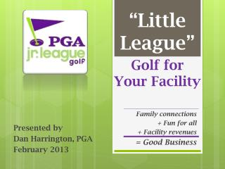 Golf for Your Facility