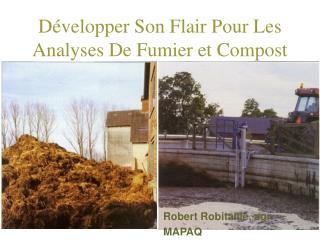 D velopper Son Flair Pour Les Analyses De Fumier et Compost