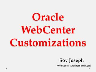 Oracle WebCenter Customizations