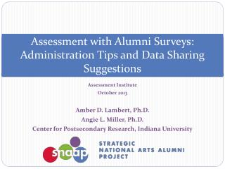 Assessment with Alumni Surveys: Administration Tips and Data Sharing Suggestions