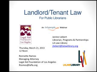 Landlord/Tenant Law For Public Librarians