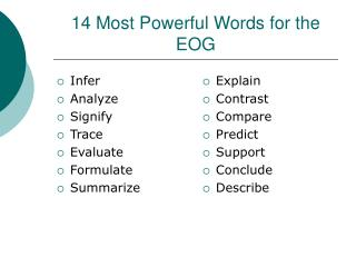 14 Most Powerful Words for the EOG