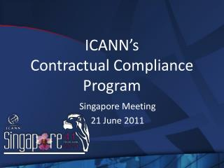 ICANN�s  Contractual Compliance Program