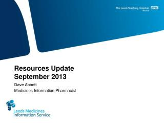 Resources Update September 2013