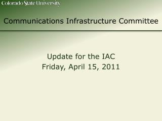 Communications Infrastructure Committee