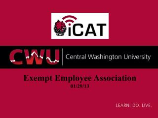 Exempt Employee Association 01/29/13